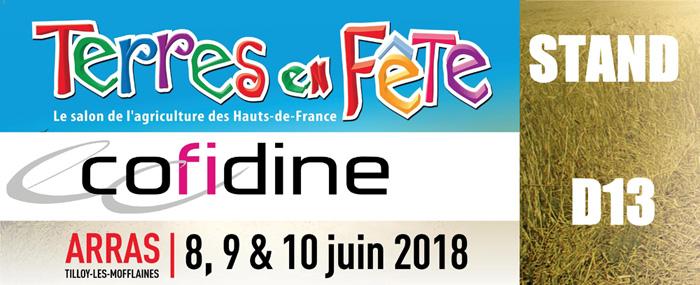 Cofidine participe au salon Terres en Fête du 08 au 10 juin 2018